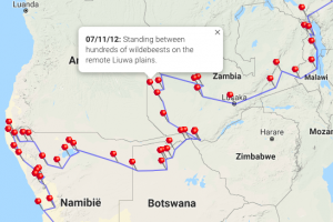 Afrika overland route 2012